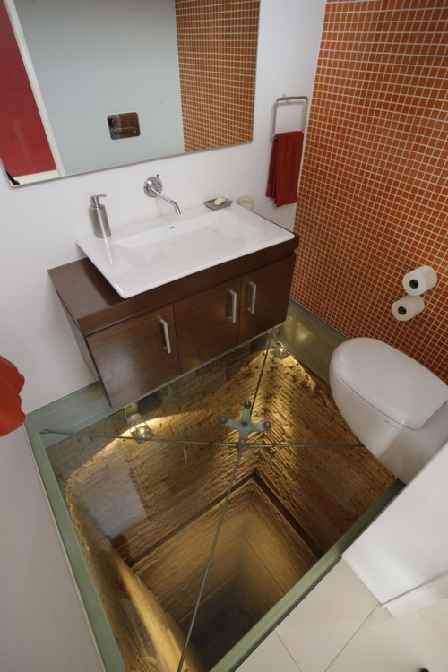 Architecture - Bathroom, Pit Fall