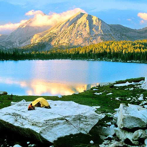 Camping, Lake, Mountain