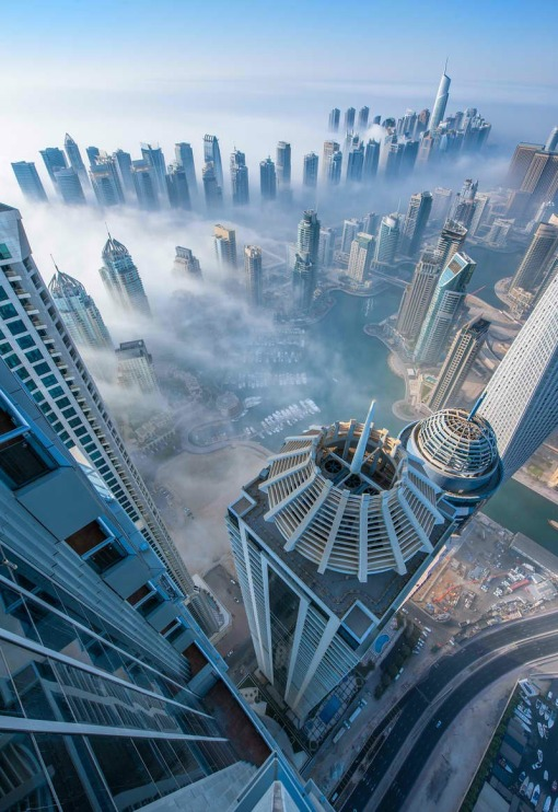 Dubai - City View, Clouds