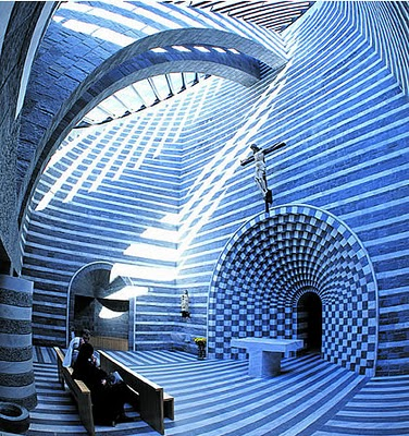 Architecture - Mario Botta - Blue
