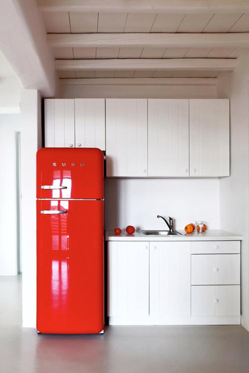 Architecture - Red, Refridgerator, Kitchen