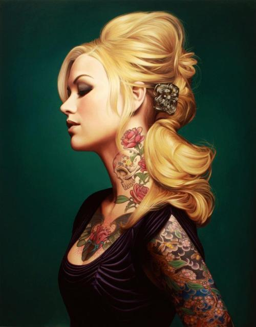 Kevin Peterson - Tattoo Model Painting