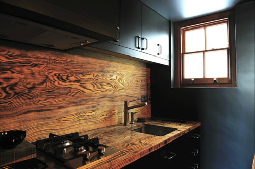 Architecture - Black, Wood Kitchen