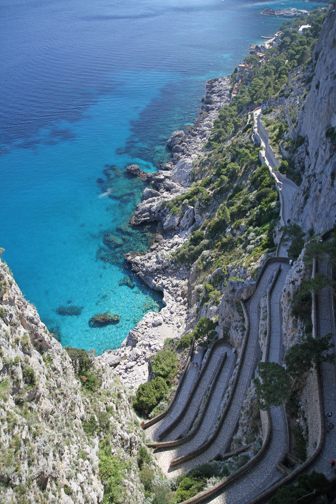 Ocean, Rocks, Path