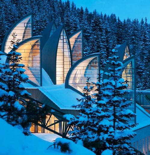 Tschuggen Grand Hotel - Mario Botta - Snow, Colors