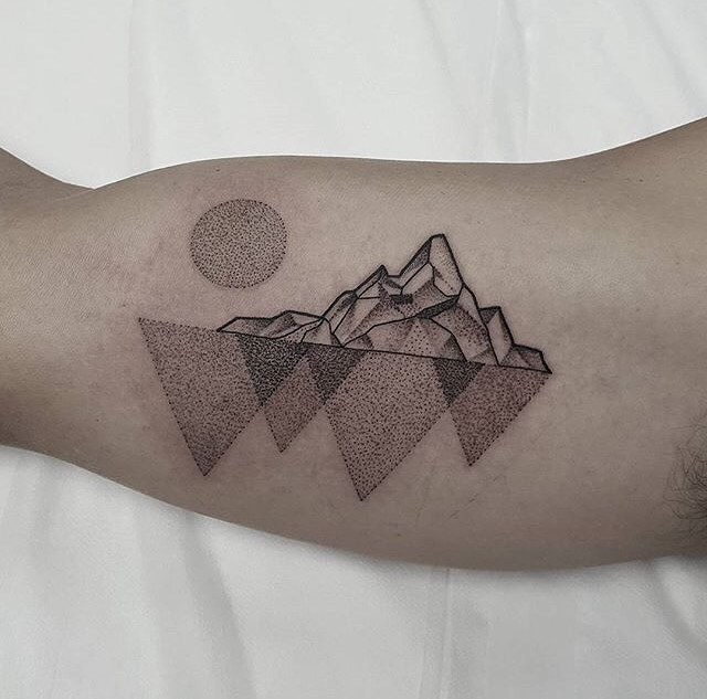 Tattoo - Ben Doukakis Tattoo, Mountains.jpg