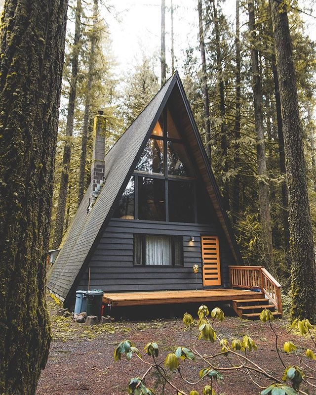 Architecture - Oregon, Cozy A-Frame Cabin.jpg