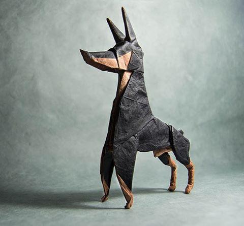 Art - Gonzalo Calvo, Origami Basset Hound 2.jpg