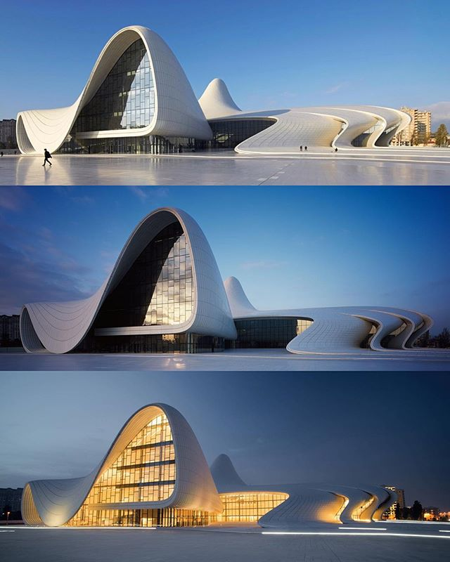 Architecture - Zaha Hadid Architects, Heydar Aliyev Center, Azerbaijan, Baku.jpg
