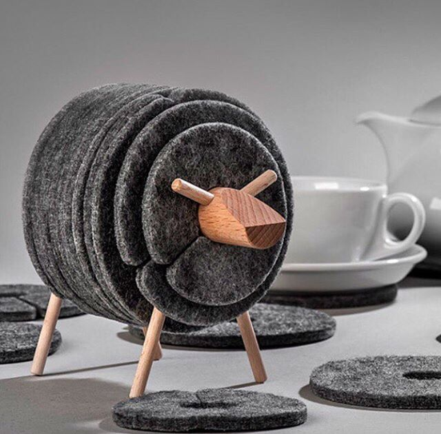 Design - Dobre Rzeczy, Sheep Coaster, Felt.jpg