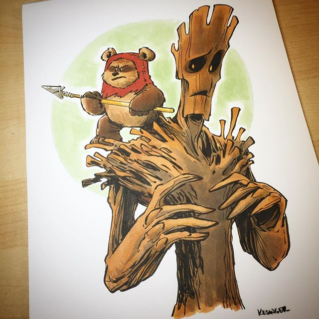 Illustration - Brian Kesinger, Ewok, groot.jpg