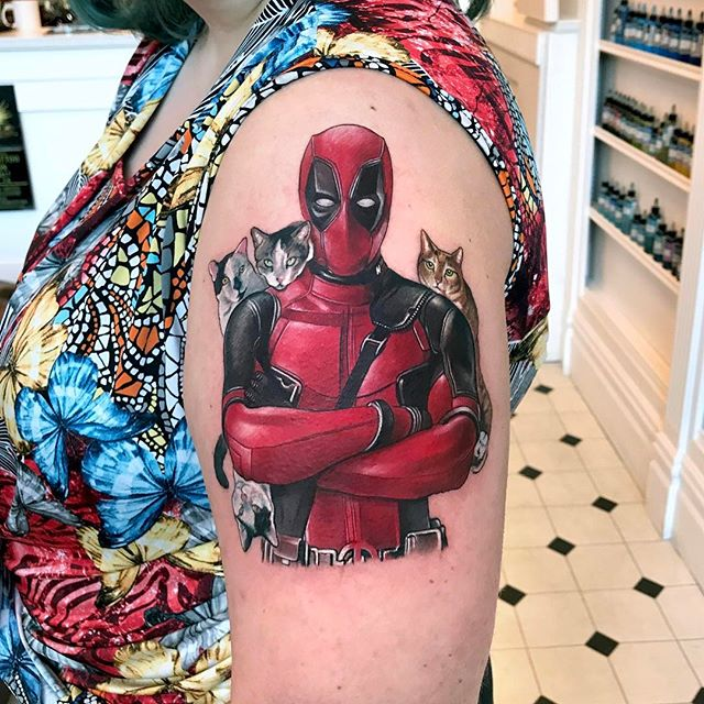 Tattoo - Tattoo - David Corden, Semper Tattoo, Deadpool, Red.jpg