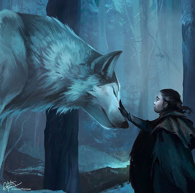 GoT- Arya, Nymeria, Blue, Alector Fencer.jpg