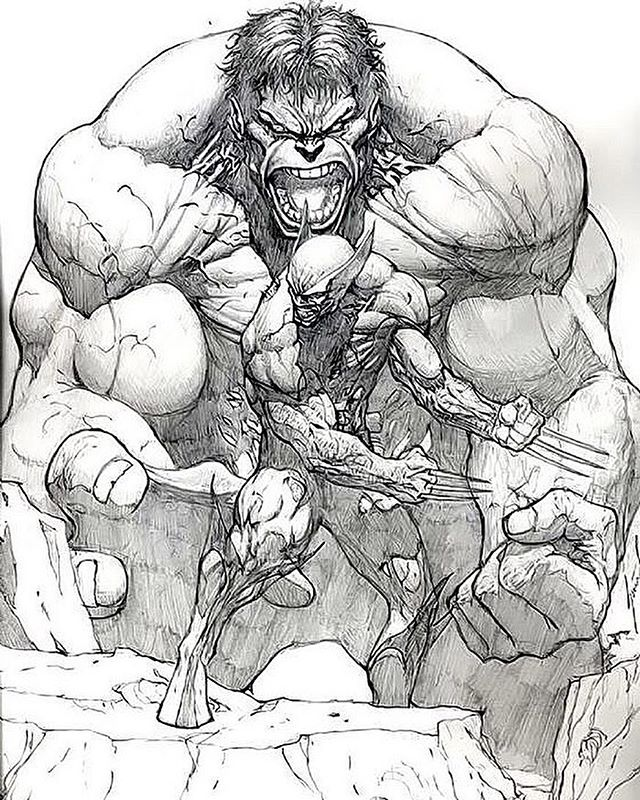 Illustration - Dale Keown, Hulk, Wolverine.jpg