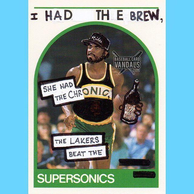 Funny - Baseball Card Vandal, Lakers beat the sonics.jpg