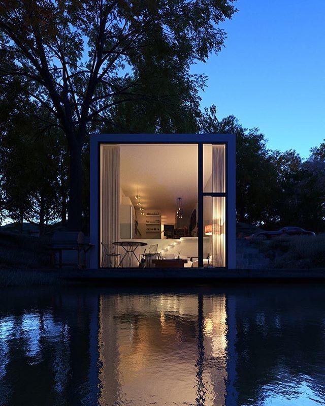 Architecture - Paulo Quartilho, Lake House, Blue.jpg