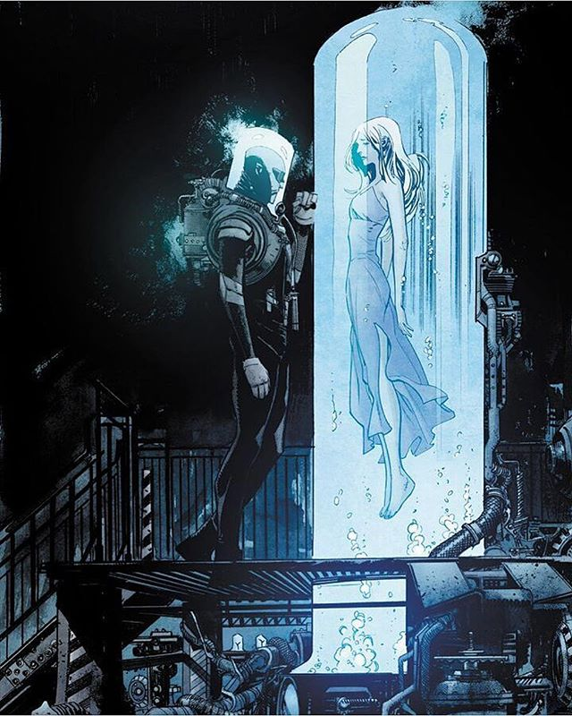Illustration - Sean Murphy, Black, Blue, Mr Freeze.jpg