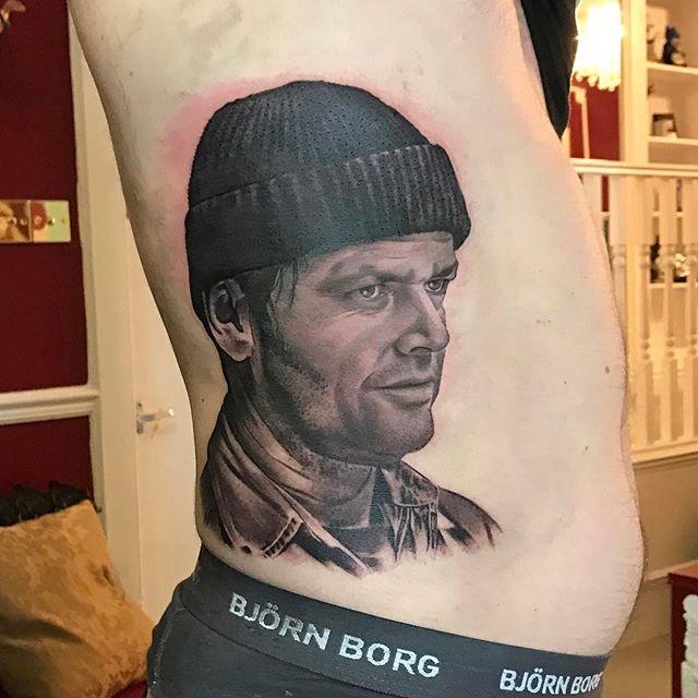 Tattoo - David Corden, Semper Tattoo, Jack Nicholson, One Flew Over the Cuckoos Nest, Black & White.jpg