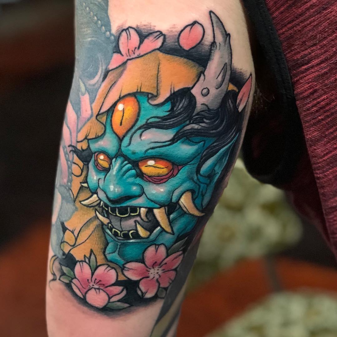 Tattoo - Justin Harris, GreenBayBully, Black Venture Gallery, Blue.jpg