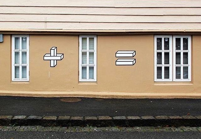 Art - 1 + 1 = 2, Aakash Nihalani, Brown.jpg