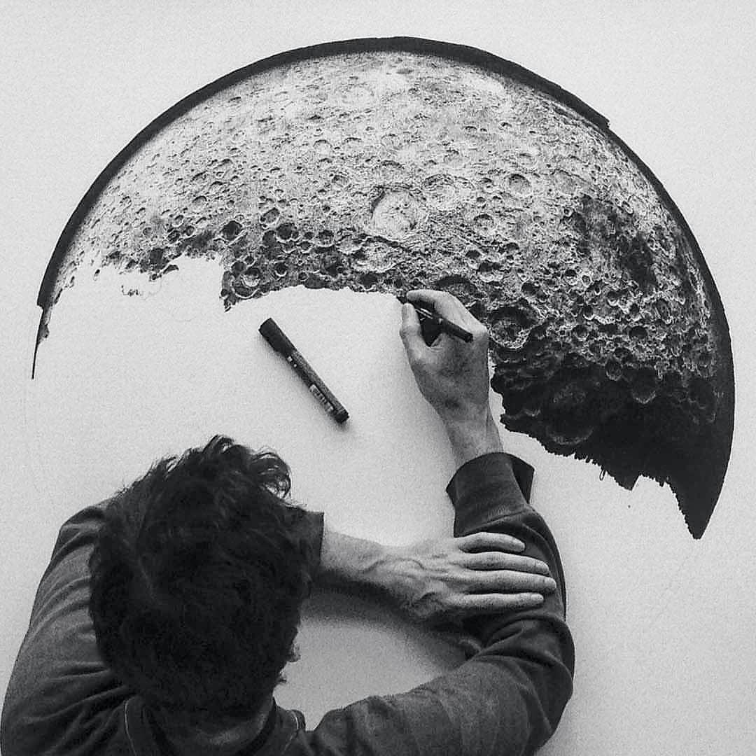 Art - CJP Art, Moon, Black & White.jpg