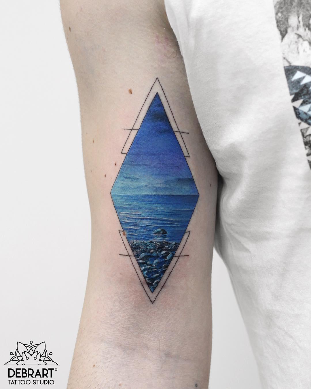 Tattoo - Deborah Genchi, DebrArtist, Debrart Tattoo Studio, Blue.jpg