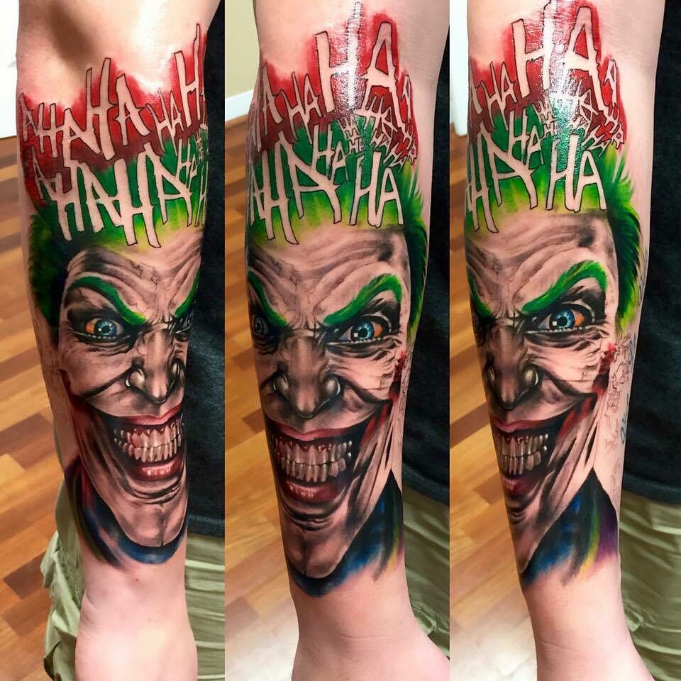 Tattoo - Cyle Corse, Black Rose Tattoo, Joker, Green, Red.jpg